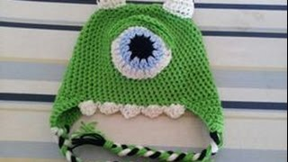 Tutorial Crochet Monster Inc. Mike Wazoski Beanie