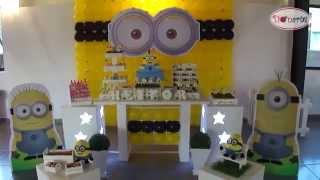 Kit Locação Decoração De Festa Tema Minions Donarte