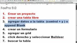 Cargar Datos En Grid En Visual Foxpro 9.0.avi