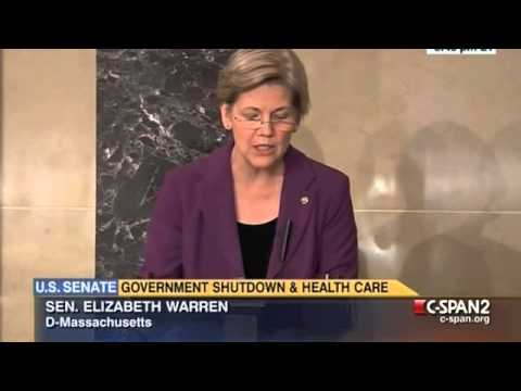 Sen. Warren on Republicans' Shutdown Threats