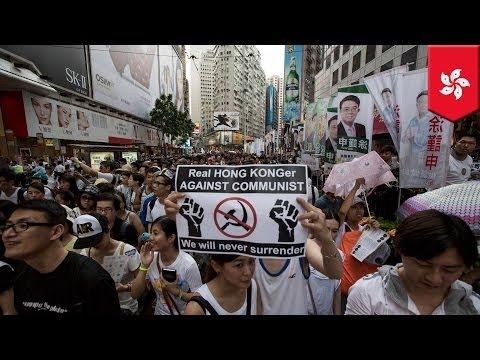 Hong Kong July 1 handover 17th anniversary protest - Sit Down song