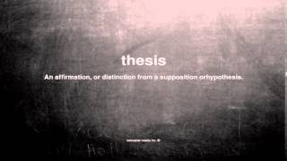 Provable Thesis Definition Essay  Essay For You Video