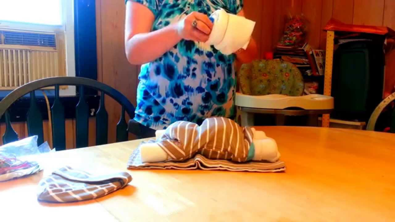 How To Make Sleeping Diaper Baby Centerpiece Youtube