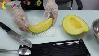 Dưa lưới Nhật - Cách bổ dưa lưới siêu độc của người Nhật (Fuji Musk Melon)