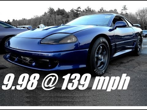 9 Second 3000gt/Stealth drag race, 9.98 @ 139 mph! - Steve Z