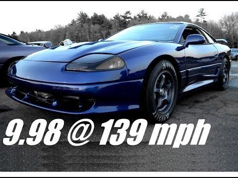 9 Second 3000gt/Stealth drag race, 9.98 @ 139 mph! - Steve Z