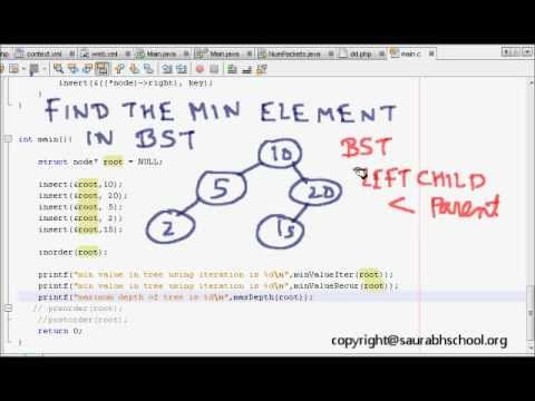 Programming Interview: Data Structures Algorithm: Minimum Value of Binary Search Tree