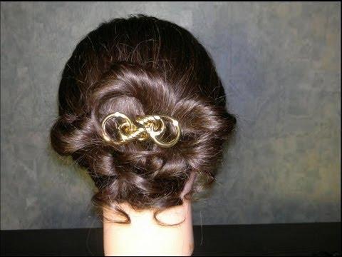 Легкая прическа для средних волос. Romantic hairstyle for medium hair