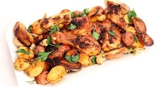 One Pan Roasted Chicken & Potatoes Recipe