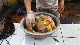 Trải nghiệm về quê  nướng cá nguyên con - Grilled fish
