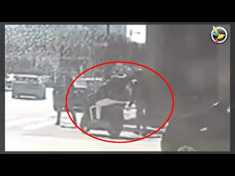 طنجة.. كاميرا ترصد لصان على متن دراجة نارية بساحة الروداني