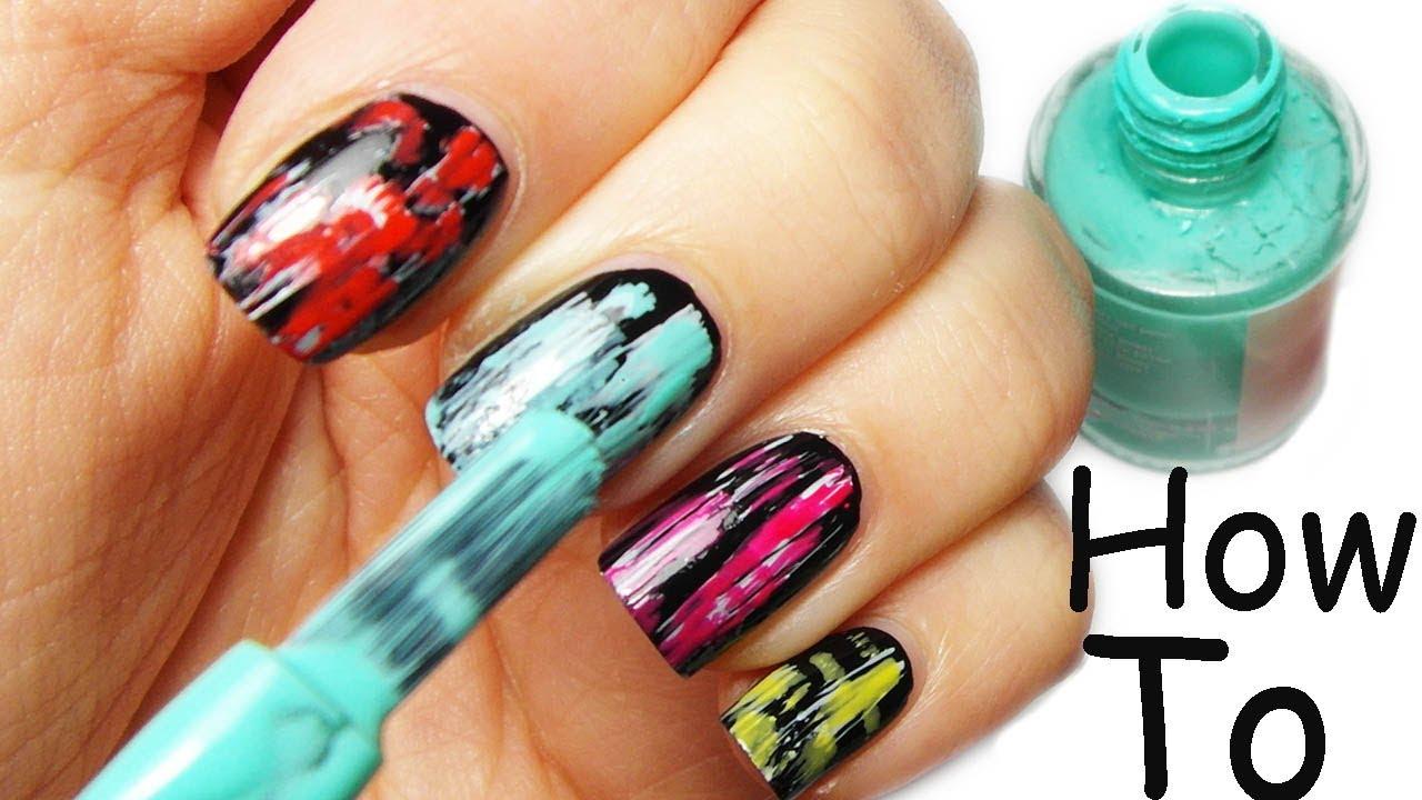Nail Art Tutorial Facile Veloce Coloratissima Youtube