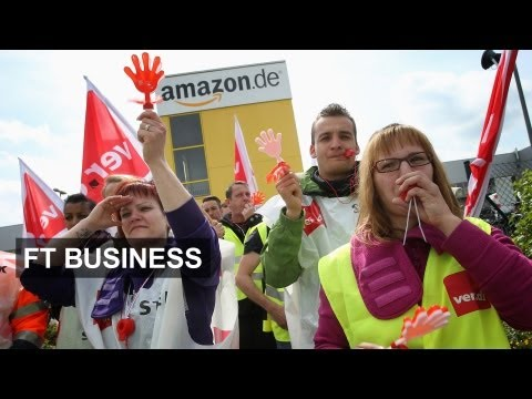 Amazon workers down tools