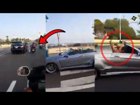 مثير: شخص بدراجة نارية يتبع الملك محمد السادس لهذا السبب!!
