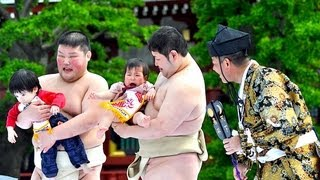 Japanese Baby-Crying Sumo Festival