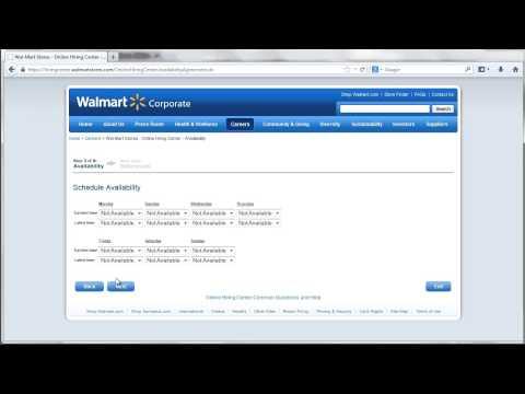 walmartcareers com online application