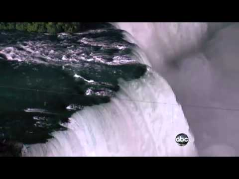 Daredevil NIK WALLENDA walks across NIAGARA FALLS on a highwire! | ABC TV 06-15-12
