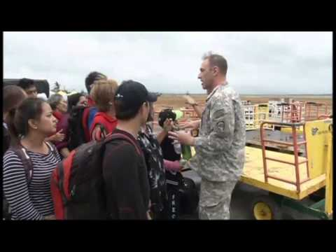 Typhoon Haiyan: US flies heavy machinery into Philippines