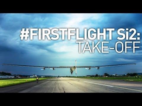 Intense Solar Impulse 2 #FirstFlight Take-Off