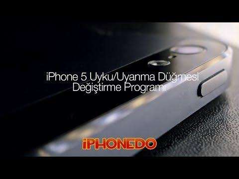 iPhone 5 Uyku/Uyanma Düğmesi Değiştirme Programı (CC in English)
