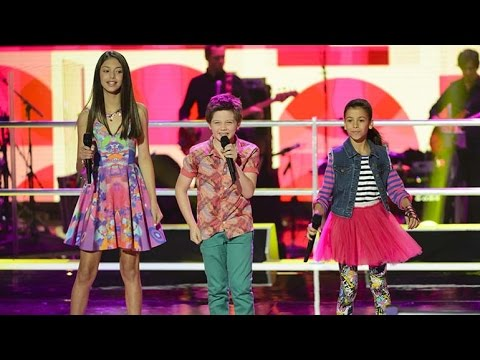 Georgia, Lenisa and Sebastian Sing Our Lips Are Sealed | The Voice Kids Australia 2014