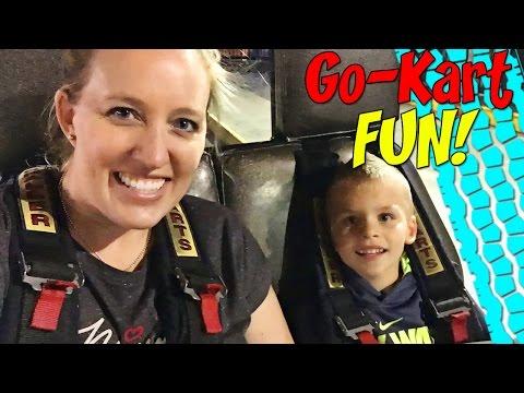 Family Fun at the Arcade!  Go Karts, Video Games & Air Hockey