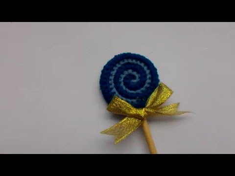 Cách móc kẹo mút - How to crochet a Lollipop