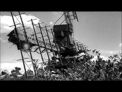 Air Defense operations in the United States during World War II. HD Stock Footage