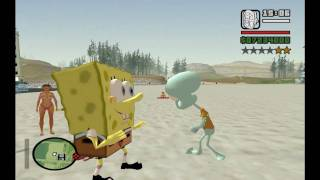SKIN BOB ESPONJA ,SPONGE GTA SAN ANDREAS FULL HD 1080p BY