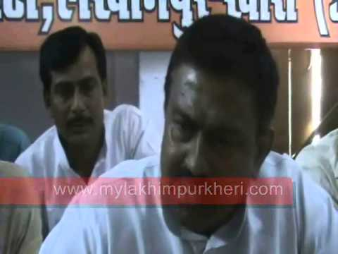lakhimpur kheri newly elected bjp mp ajai mishr tainy talking to media
