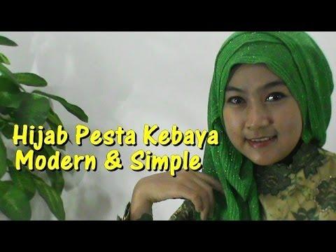 Cara Memakai Hijab Pesta Kebaya Modern dan Simple untuk Pernikahan by Anna