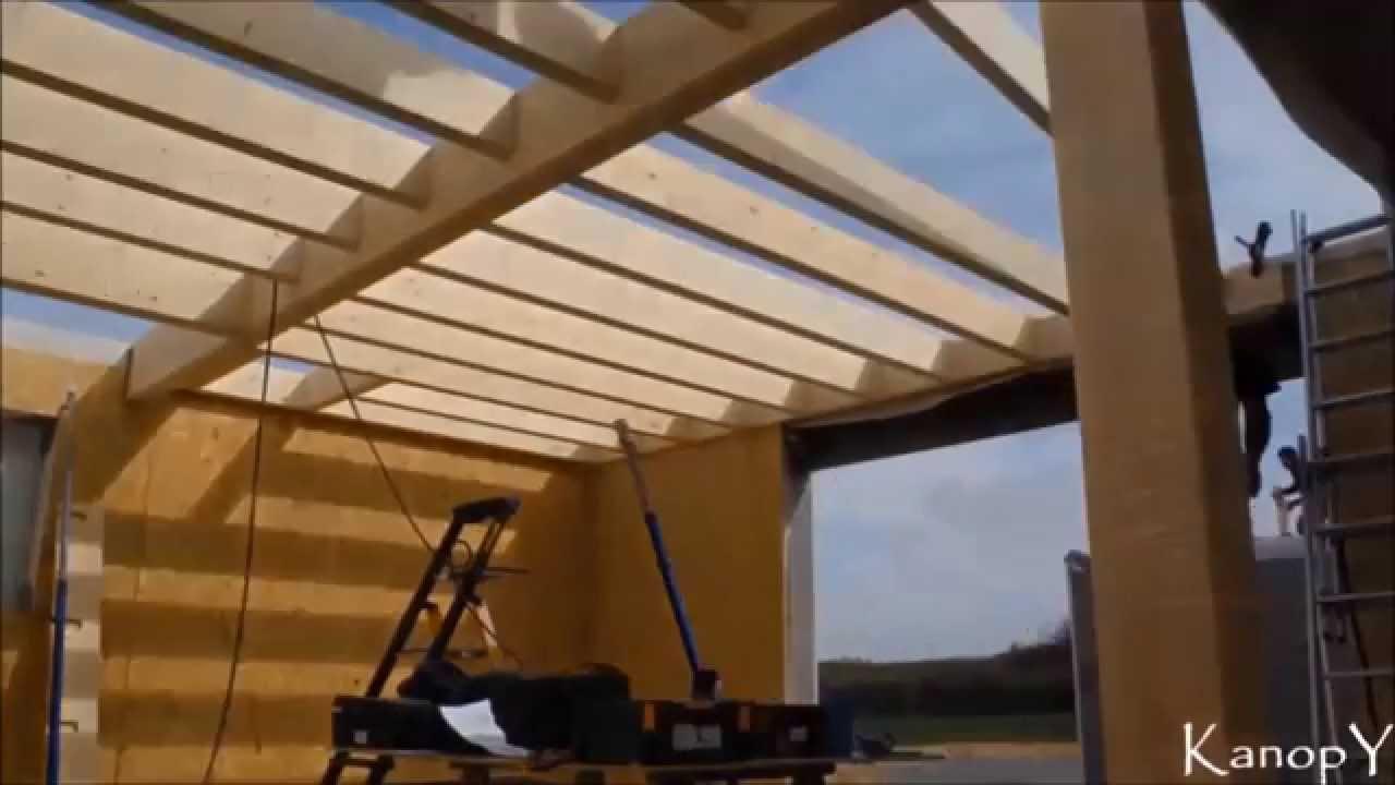Montage maison ossature bois Kanopy  YouTube ~ Montage Maison Ossature Bois