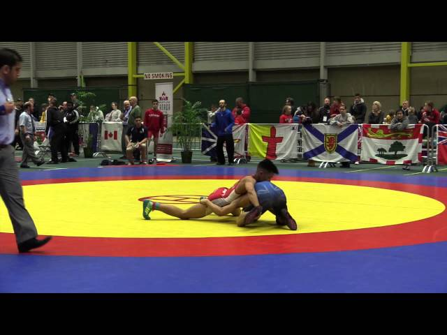 2014 Junior National Championships: 50 kg Oscar Bulaqui vs. Andre Chicas