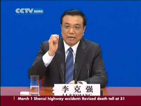 China premier Li Keqiang gives press conference