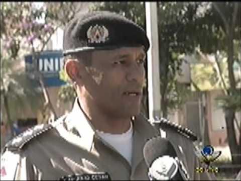 Policial fala sobre a manifestação em Uberlândia