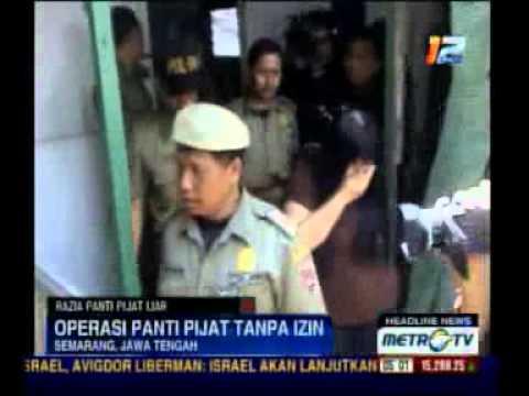 Satpol PP Semarang Tertibkan Panti Pijat Liar
