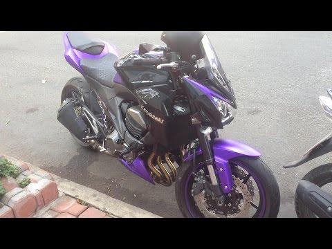 Kawasaki Z800 màu TÍM lạ mắt