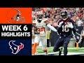 Browns vs Texans NFL Week 6 Game Highlights