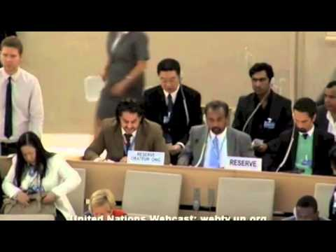 Mehran Baluch addresses the 24th session of UNHRC on Balochistan issue