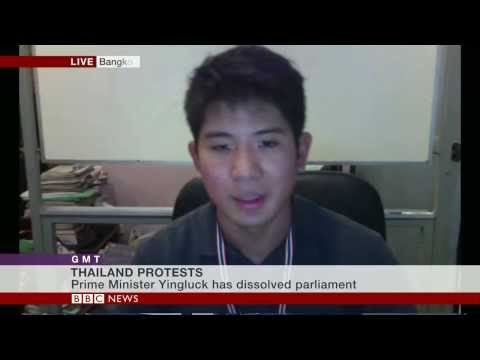 'WE WANT THIS GOVERNMENT GONE' SAYS THAILAND'S ANTI GOVERNMENT PROTESTER - BBC NEWS