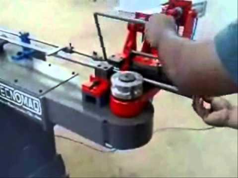Tecnomaq Curvadoras-  Maquina Curvadora de tubos 2D pneumatica