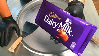 Ice Cream Rolls | Cadbury - Dairy Milk Chocolate Ice Cream / fried Thailand rolled ice cream roll