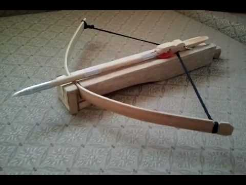 How to make a-MINI CROSSBOW-4-hand craft.