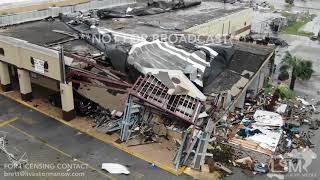 10-10-2018 Panama City, Fl Hurricane Michael, flying drone through school, buildings collapsed