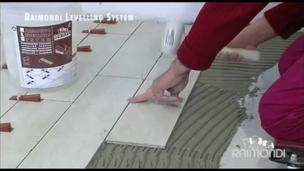R l s raimondi levelling system youtube - Distanziatori livellanti per piastrelle ...