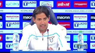La conferenza stampa di mister Inzaghi alla vigilia di Lazio-ChievoVerona