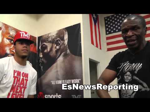 floyd mayweather sr teaching boxing moves EsNews Boxing