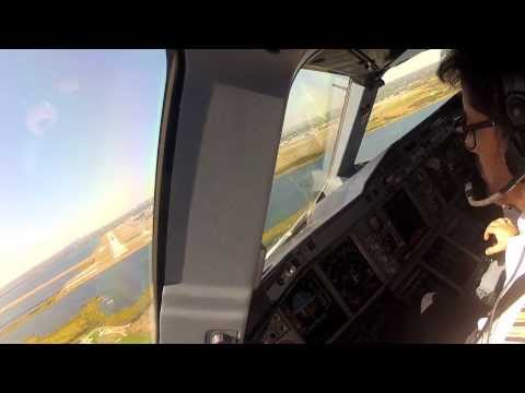 Emirates A380 landing in New York JFK Airport