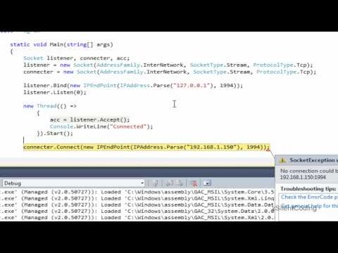 C# Socket Basics - Server