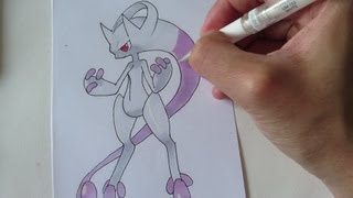 [Tutorial] How To Draw Mega Mewtwo From Pokemon X And Y